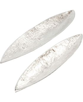 Deco Bowl Fern Silver (2/Set)