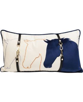 Cushion Horsefaces 28X50Cm