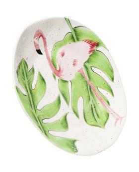 Plate Flamingo Holidays Dia21Cm