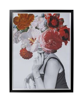 Picture Frame Flower Lady 152X117Cm