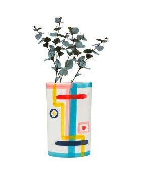 Vase Art Face Colore Flat 31Cm