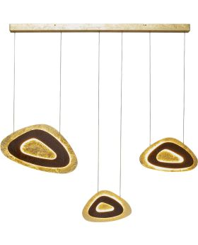 Pendant Lamp Triangolo Tre Led ,Brown (Excluding Bulb And Socket)