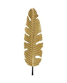 Wall Decoration Leaf Gold92Cm