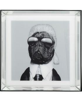 Pictureframe Mirror Designer Dog 60X60Cm