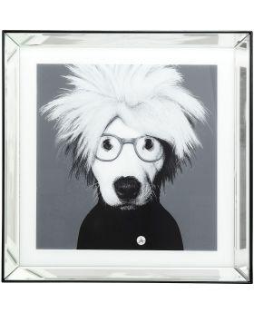 Picture Frame Mirror Artist Dog 60X60Cm