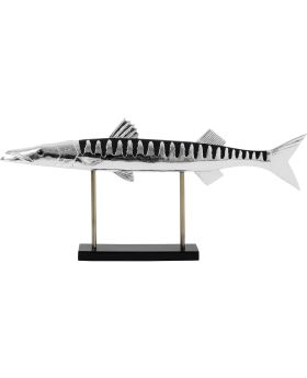 Deco Object Fish Chrome,Silvery