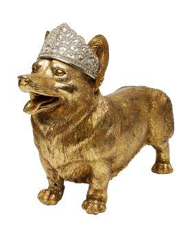 Deko Object Royal Standing Corgi Golden