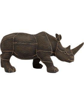 Deco Object Rhino Rivets Pearls Brown