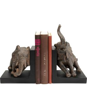 Bookend Elephants 42Cm (2/Set),Grey