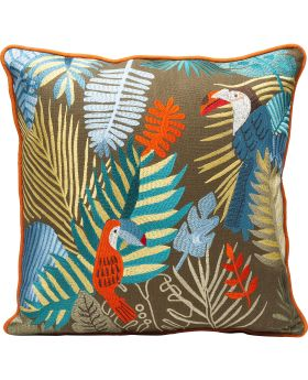 Cushion Exotic Parrots 45X45Cm