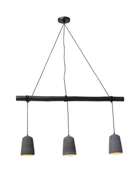 Pendant Lamp Dining Concrete Black Tre (Excluding Bulb And Socket)