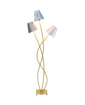 Floor Lamp Flexible Velvet Brass Tre (Excluding Bulb)