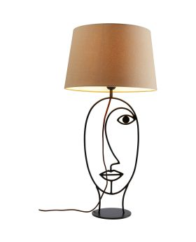 Table Lamp Face Wire Nature,Beige (Excluding Bulb)
