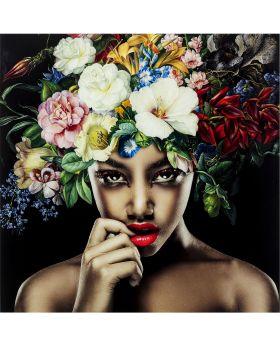Pictureglass Pretty Flower Woman 120X120