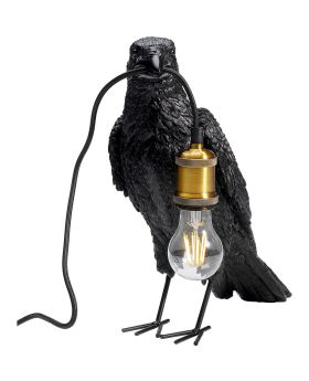 Table Lamp Crow Mat Black (Excluding Bulb)