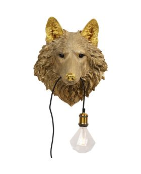 Wall Lamp Wolf Head (Excluding Bulb And Socket)