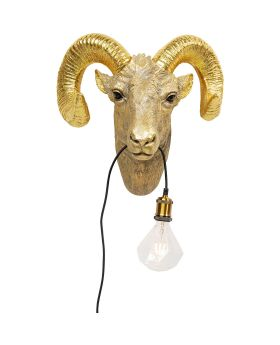 Wall Lamp Goat Head (Excluding Bulb And Socket)