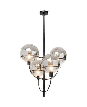 Pendant Lamp Lantern 4Rs Black (Excluding Bulb And Socket)