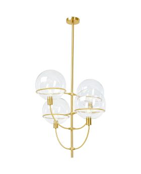 Pendant Lamp Lantern 4Rs Brass (Excluding Bulb And Socket)