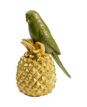 Deco Figurine Ananas Parrot