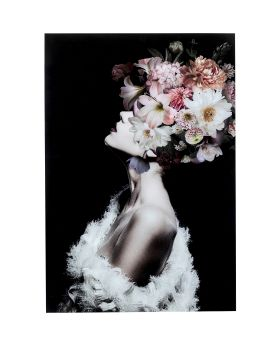 Glass Picture Flowery Beauty 80X120