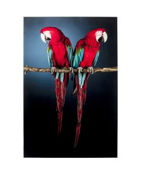 Glass Picture Twin Parrot 80X120