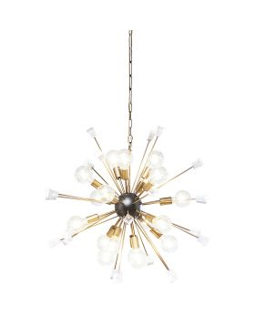 PENDANT LAMP CRYSTAL BOMB BRASS A93CM (EXCLUDING BULB AND SOCKET)