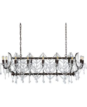 Pendant Lamp Chateau Crystal Rusty (Excluding Bulb And Socket)