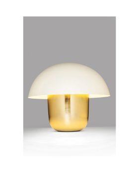 Table Lamp Mushroom White-Brass