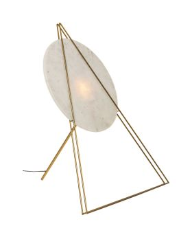 Floor Lamp Triangle Marble White (Excluding Bulb)