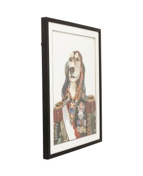 Picture Frame Art General Dog 90x72cm