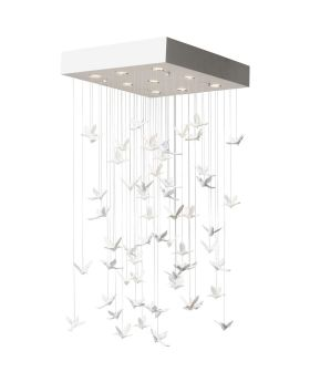 Pendant Lamp Flying Birds White