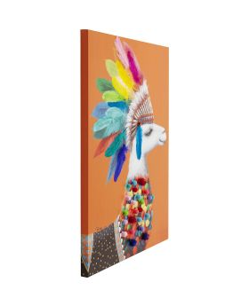 Picture Touched Lama Chief 100x70cm