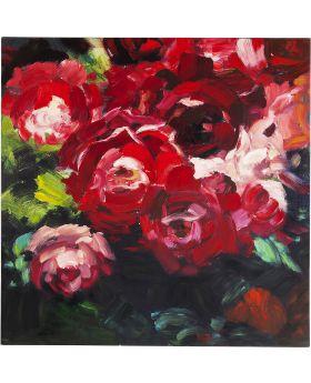 Oil Painting Roses 100x100cm