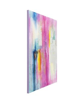 Oil Painting Abstract Pink-Silver 150x120cm