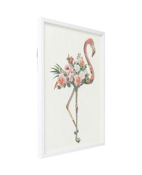 Picture Frame Art Flamingo 100x75cm