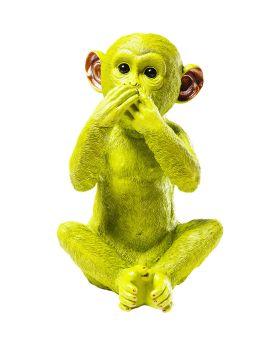 Money Box Monkey Iwazaru Limegreen