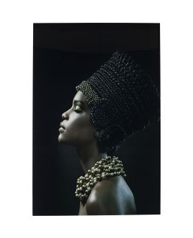 Picture Glass Royal Headdress Profile