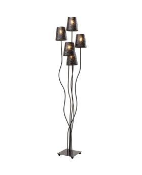 Floor Lamp Flexible Black Cinque (Excluding Bulb)