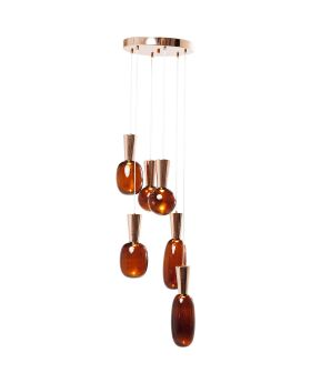 PENDANT LAMP GLASS GOCCIA LED (EXCLUDING BULB AND SOCKET)