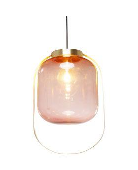 Pendant Lamp Jupiter Pink-Brass