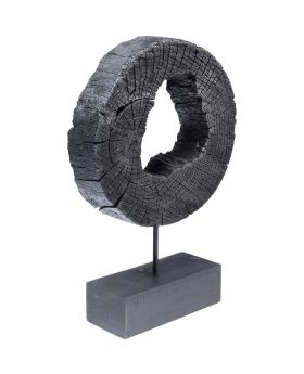 Deco Object Ring Of Fire Black 53cm