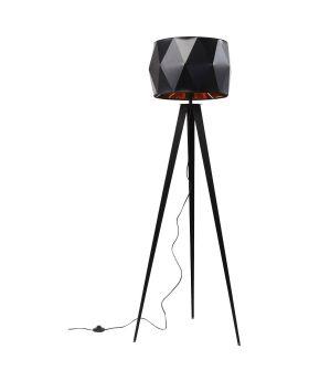 FLOOR LAMP STRIGHT TRIPOD MATT BLACK (EXCLUDING BULB)