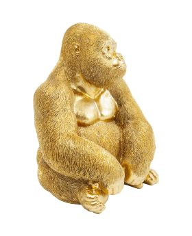 Deco Figurine Monkey Gorilla Side Medium Gold