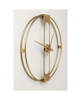 Wall Clock Clip Gold 60cm