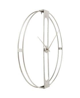 Wall Clock Clip Silver 60cm