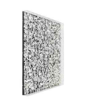 Deco Frame Silver Flower 100x100cm