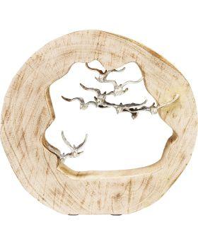 Deco Object Birds In Log