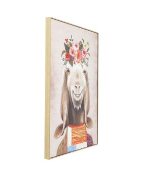 Picture Touched Flowers Goat 102x72cm