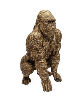 Deco Figurine Gorilla Gold 80cm